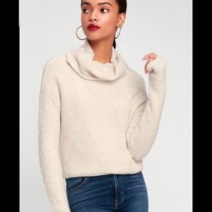 NWT Free People Stormy Cowl Neck Pullover